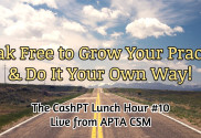 american physical therapy association csm 2016 cashpt lunch hour